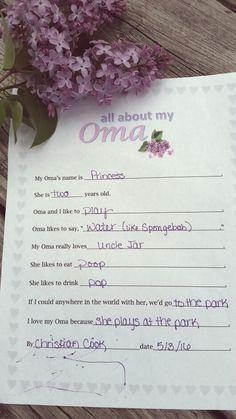 Lilacs and Oma