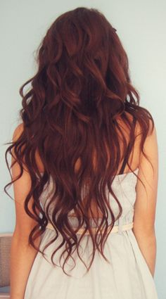 I love the color of her hair above the perm!