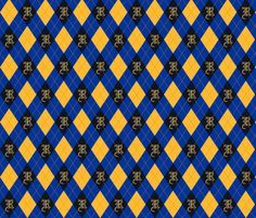 Ravenclaw Argyle fabric by crumpetcouture on Spoonflower - custom fabric