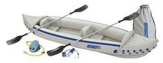 Sea Eagle 370 12ft 3in Inflatable Kayak Incl Paddles Seats and Pump