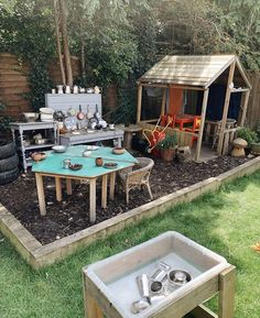 outdoor play area for kids cheap Diy Outdoor Play Area For Kids Pallets - Diy Outdoor Play Area For Kids Outdoor Play Spaces, Kids Outdoor Play, Backyard For Kids, Backyard Projects, Backyard Patio, Outdoor Play Kitchen, Backyard Ideas, Natural Playground, Backyard Playground
