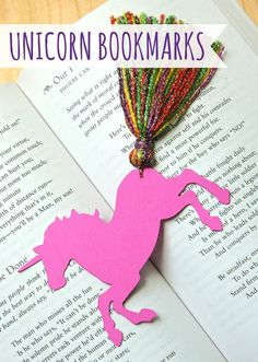 Unicorn Bookmarks with Yarn Tassels