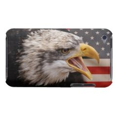 Patriotic Bald Eagle Case-Mate iPod Case