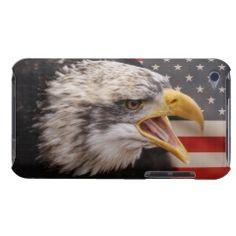 Patriotic Bald Eagle Case-Mate iPod Case