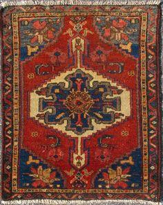 "KEIVAN WOVEN ARTS, Type : Serapi Origin : Iran Size : 1'10""x2'3"" Circa : 1890"
