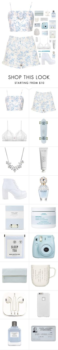 """""""Evangeline"""" by vip-beauty ❤ liked on Polyvore featuring Topshop, Only Hearts, Givenchy, Byredo, ROC, Marc Jacobs, Laura Ashley, Aveda, Fujifilm and Whistles"""