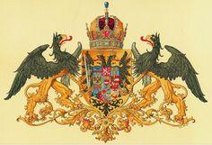 Empire of Austria-Hungary, medium coat of arms of the Austrian Countries, 1915-1918, Hugo Gerhard Ströhl.
