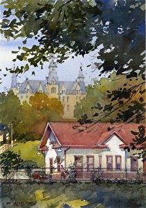 """The Depot by Richard Sneary Watercolor ~ 10"""" x 7"""""""
