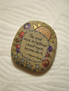 Size: Approx. 2 1/2 x 2 1/8 This is a custom made stone for Joanna. If you like this stone, or have a saying youd like written on a stone, just convo