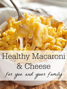 Behold the recipe for a healthy mac and cheese that you can feel good about serving yourself and your family! #healthymacaroniandcheese #healthymacncheese