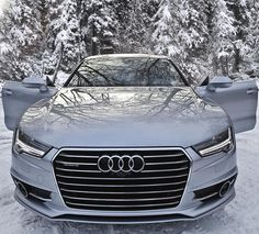 The snow queen.  Car: 2016 Audi A7 3.0TDI quattro S-line (320hp/650Nm V6 BiTurbo diesel) Color: Florett silver metallic Performance 0-100kmh/62mph: 508sec (tested) 5.2sec (official) Location: Malmö Sweden Facebook: http://ift.tt/1sUXuHP Camera & lens: Canon Eos 5D Mark II / 24-70mm Thanks to: Audi Malmo (@audimalmohbg)  Remember ALL my photos are available on my popular Facebook page where you can download them in their high quality.  #auditography #audi #a7 #quattro #audia7 #snow #winter…