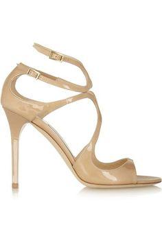 1da721c4540ba3 Jimmy Choo - Lang Patent-leather Sandals - IT41.5 Jimmy Choo Shoes