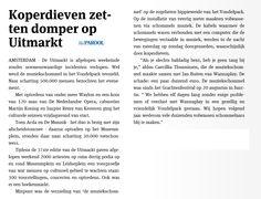 Uitmarkt 2014. © Het Parool, 1 september 2014.