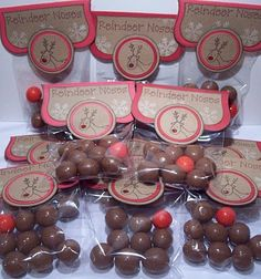 Reindeer Noses - a cute little gift idea! 8 Whoppers and1 red gumball!