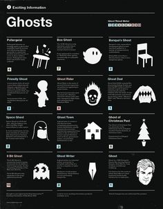Ghosts infographics by Olly Moss, via Flickr