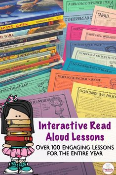 Interactive Read Aloud Lessons for the Entire Year Bundle Improve Reading Comprehension, Comprehension Strategies, Reading Strategies, Reading Groups, Library Lessons, Reading Lessons, Library Ideas, Teaching Reading, Teaching Ideas