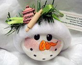 Snowman Ornament Christmas Tree Bulb Hand by TownsendCustomGifts