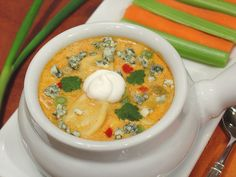 Buffalo Chicken Chowder with Bacon and Cheese Tortellini 3