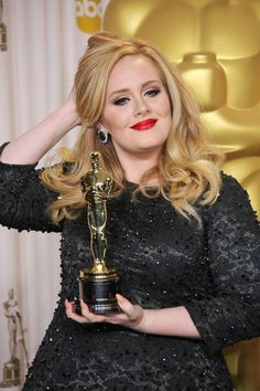 "Talent over subscribed ideas of beauty and size. Adele won for ""Original Song"" at the 85th Annual Academy Awards"