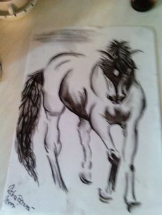 ,, charcoal horse ""