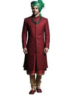 Buy Jade Blue Maroon Anarkali Sherwani online in India at best price. Kindly provide this Sherwani MAIJ as reference number while inquiring about this product at any stor Sherwani For Men Wedding, Wedding Dresses Men Indian, Groom Wedding Dress, Sherwani Groom, Groom Dress, Wedding Outfits, Blue Sherwani, Wedding Pics, Wedding Attire