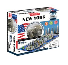 Amazon.com: 4D New York City Skyline Time Puzzle: Toys & Games