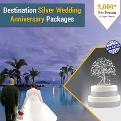 Add a memorable Event to your 25th wedding anniversary and make this day a memorable milestone day in the life path Journey. Plan it on an exotic location to make it memorable.