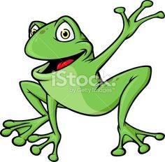 Frog Wave Royalty Free Stock Vector Art Illustration