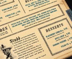 Stubb's Bar-B-Q #retro #menu