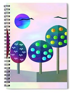 Notebooks For Sale, Lined Page, Spiral, Landscape, Paper, Wood, Artwork, Prints, Work Of Art