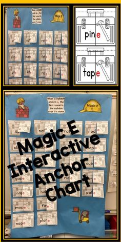 $ Mastering magic e can be a struggle for many young readers! This interactive anchor chart is printable and fun for word work and literacy centers. Put this valuable tool to work in your elementary classroom today.