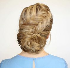 Get A Flawless Dutch Fishtail Low Bun With This Tutorial