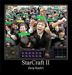 StarCraft II Zerg Rush!!