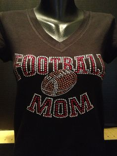 Football Mom Bling (Red Rhinestones) on Etsy, $16.99
