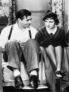 Clark Gable and Claudette Colbert in It Happened One Night (1934)