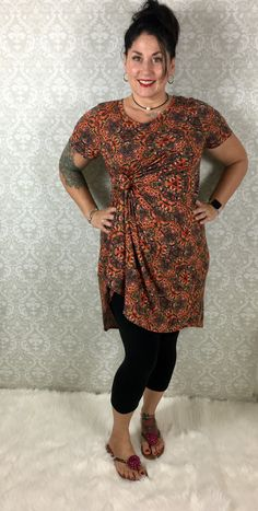 Add a decorative knot to reign in some of the flowing, beautiful fabric of the LuLaRoe Carly! Come shop with us: www.facebook.com/groups/lularoekateandlea