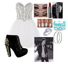 Prom with Shawn Mendes by llonedirectionlover1124ll on Polyvore featuring polyvore, fashion, style, Anoushka G, Domo Beads and Nyla Star