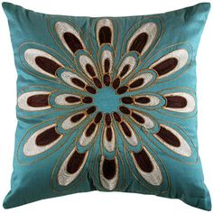 Found it at Wayfair - Jovi Home Passiflora Cushion in Teal Teal Pillows, Accent Pillows, Decorative Throw Pillows, Couch Pillows, Decor Pillows, Colorful Pillows, New Living Room, Living Room Decor, Dining Room
