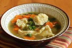 Kuřecí polévka s noky Thai Red Curry, Soup, Ethnic Recipes, Soups