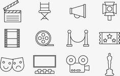 영화 촬영,영화,트로피,콘티뉴이티 클러크 보드,오사카,片场 감독님 의자,아이콘,극장 상영 홀,片场 Cinema, Printables, App, Tattoo, Film, Logo, Drawings, Birthday Tags, Pictogram