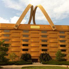 Longaberger HQ, giant picnic basket structure, Ohio