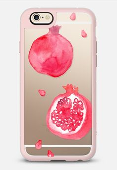 Pomegranate iPhone 6 case in Pink Gray and Clear by Erin Ellis | @casetify