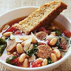 Hearty Italian Soup  This got 5 Stars on My Recipes, it looks pretty easy and delicious. Maybe a good weeknight meal for the family.