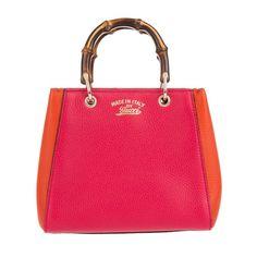 Gucci Tasche - Bamboo Mini Crossbody Fuchsia/Orange - in orange, pink - Umhängetasche für Damen
