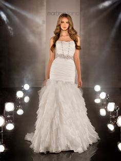 This was my wedding dress. Looks so different on the model!!  Martina Liana 376.