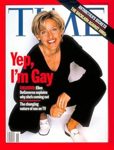 Ellen DeGeneres comes out on the cover of TIME | April 14, 1997 http://ti.me/y9D3KZ