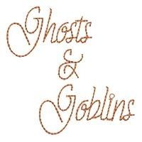Halloween Wording Set, 9 Designs - 5x7 | Halloween | Machine Embroidery Designs | SWAKembroidery.com HeartStrings Embroidery
