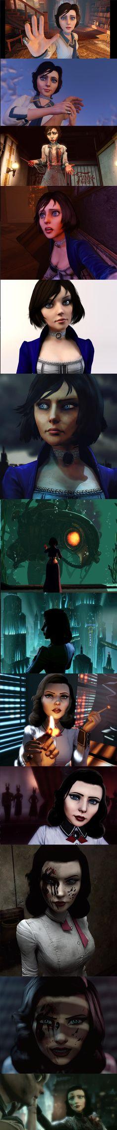 The evolution of Elizabeth. [Bioshock Infinite / Burial at Sea spoilers] Wow.