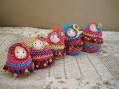 Amigurumi Russian Doll Pattern : Amigurumi matryoshka babouska russian nesting doll digital