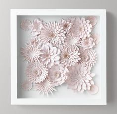 RH Baby & Child's Hand-Folded Paper Flower Art Small - Pink:Capturing the detail and delicacy of live floral specimens, the blooms in our plentiful paper bouquet are carefully laser cut and folded by hand for a display that's always in season.